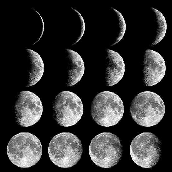 چرا شکل ماه دائم در حال تغییر است؟